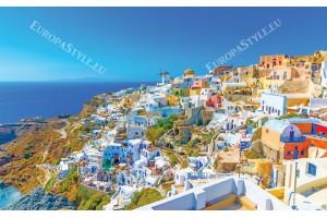 Фототапет прекрасен изглед на остров Санторини