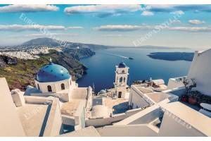 Фототапет прекрасен изглед Санторини близък план