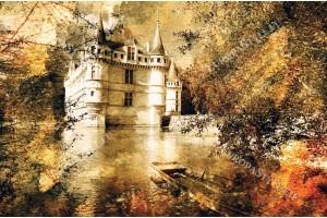Фототапет старинен замък винтидж стил
