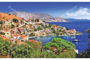 Фототапет красива гледка гръцки остров