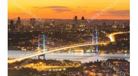 Фототапети изглед от Истанбул и мост