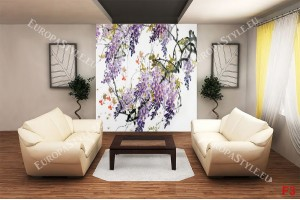 Фототапет арт клони в лилаво