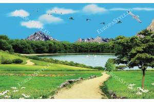 фототапети 3д изглед езеро