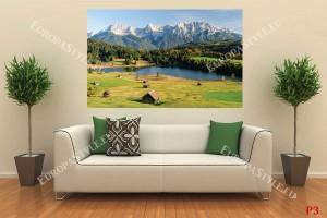 красив пейзаж с езеро и планина от Бавария