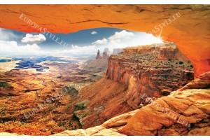 Фототапет изглед красиви скали в оранжево