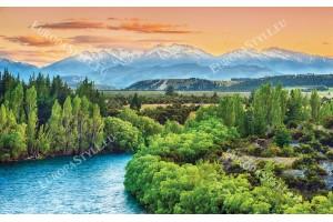 Фототапет планински изглед с река