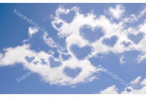 Фототапети небе нежни облаци сърца
