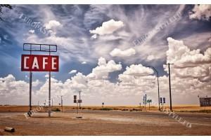 американска прерия ретро пейзаж път
