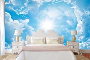Фототапет синьо небе с облаци 2