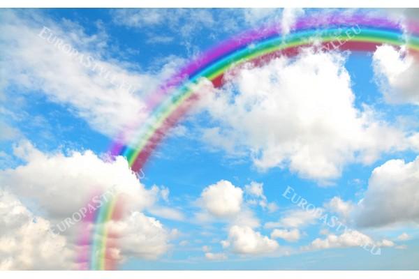 Фототапет небе с облачета и цветна дъга