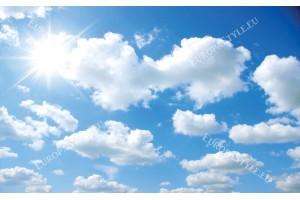 Фототапет синьо небе бели облачета
