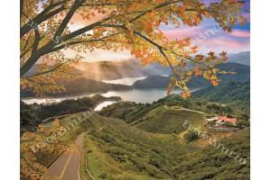 Фототапет гледка ливади и планина