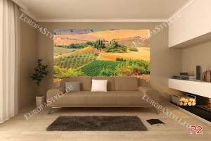 Фототапети красив изглед поле Тоскана 2