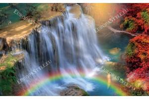 Фототапети прекрасен водопад с небесна дъга