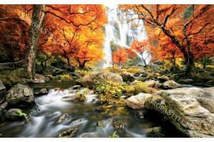 Фототапети прекрасен горски водопад есен