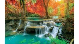 прекрасни цветни горски водопади