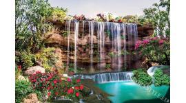 Фототапет-30% размер 200 см-130 см - Водопад 2
