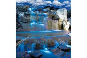 Фототапети 3д изглед нощен водопад с имитация на врати в 2 цв.
