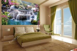 3д ефект на композиция водопад – градина