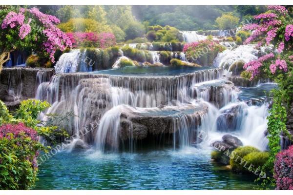 Фототапет 3д ефект на композиция водопад – градина