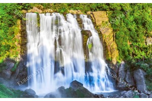 фототапет удивителен водопад стена на скала