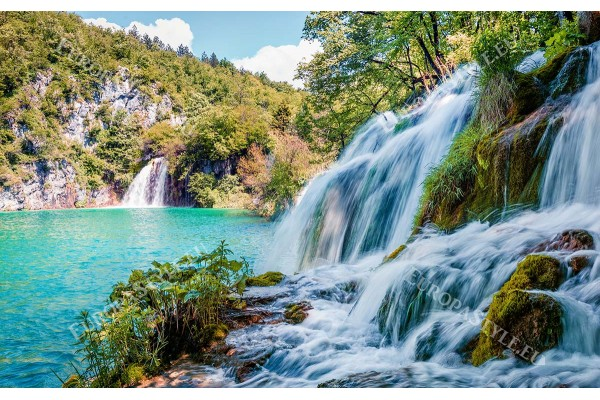 фото тапет голям красив водопад дясно ориентиран