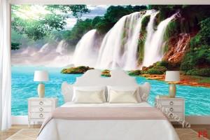Фототапет голям лазурносин водопад