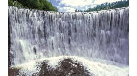 Фототапет водна стена на водопад