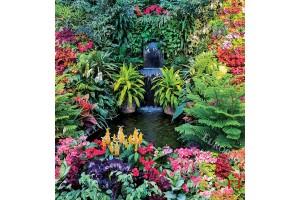 Фототапет приказно красив градински водопад
