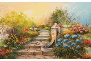 Фототапети рисувана градина пътека
