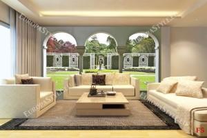 Фототапети красива градина с колони