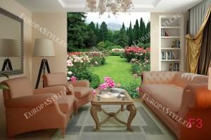 Фототапети градина с прекрасни рози изглед