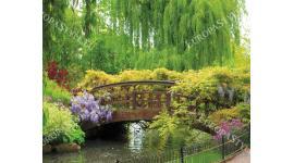 Фототапет мостче в градински парк