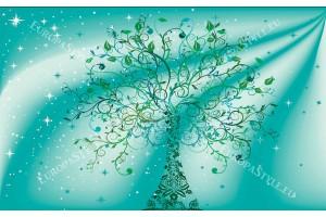 Фототапети дърво с орнаменти на елегантен фон в 2 варианта