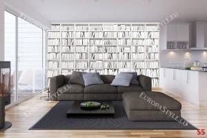 Фототапет библиотека от бели книги