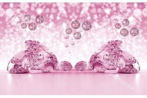 фототапети композиция с диаманти в 3 цвята