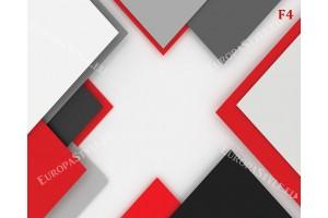 геометрична дизайнерска стена в черно и червено