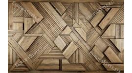 3д фототапет дизайнерска стена с дървени елементи