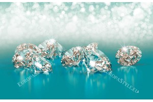 Фототапет светлини и диаманти арт розов и тюркоаз