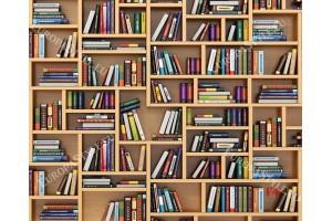 Фототапет стена модерна библиотека