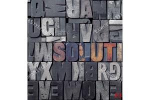 Фототапет арт стена букви от бетон в 3 цвята