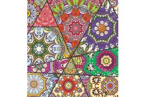 Фототапет пачуърк от декоративни цветни арабски мотиви