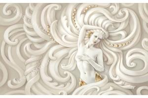 Фототапет релефна стена с женска статуя модел 2