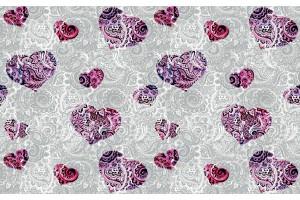 Фототапети арт сърца цветни с орнаменти