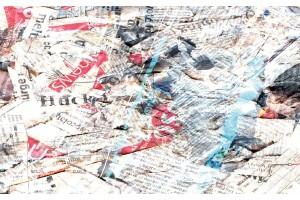 Фототапети арт пано стари вестници в 2 цвята