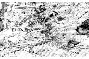 Фототапети арт пано стари вестници в сиво