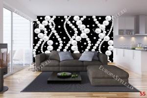 Фототапети черно-бели перли