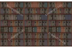 Фототапет библиотека стари книги дървена перфектен реализъм