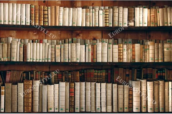 Фототапет ретро библиотека стари книги дърво