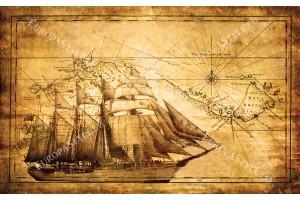 Фототапет старинен кораб ретро модел 2